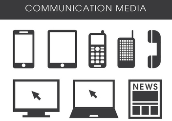 Communication Media - vector gratuit #410363