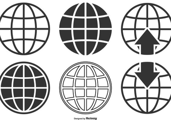 World Globe Icon Collection - vector gratuit #410403