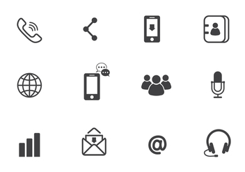 Free Communication Vector Icons - vector gratuit #410453