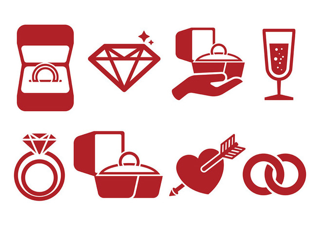 Free Ring Box Icons Vector - Kostenloses vector #410533