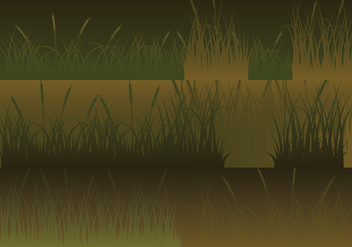 Meadow Silhouettes Horizontal Banners Set - vector gratuit #410573