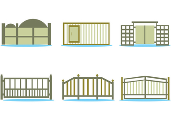 Open Gate Vector Set - Free vector #410603