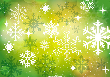 Beautiful Green Christmas Background - vector #410663 gratis