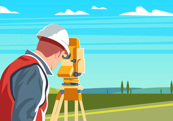 Engineer Surveyor - Kostenloses vector #410673