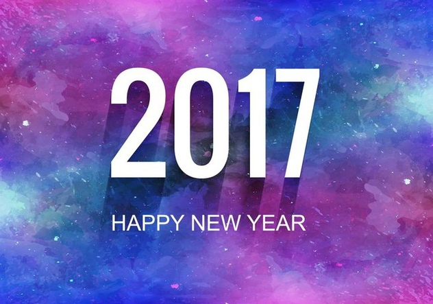 Free Vector Colorful New Year 2017 Background - vector gratuit #410683