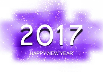 Free Vector New Year 2017 Background - vector gratuit #410713