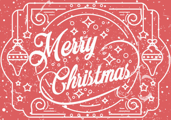 Merry Christmas Greeting Illustration - vector gratuit #410783