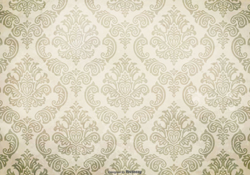 Grunge Damask Background - vector #410793 gratis