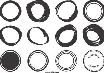 Cute Hand Drawn Circle Shapes - vector gratuit #410803