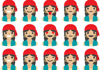 Gipsy Woman Emoticons - vector #410813 gratis
