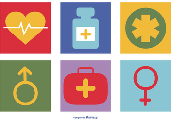 Colorful Medical Icon Collection - Free vector #410903