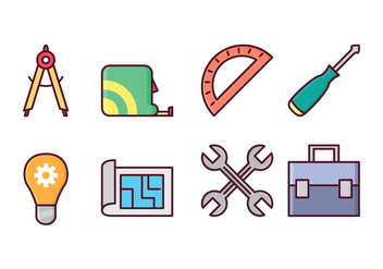 Free Architect and Construction Icons - vector gratuit #410923