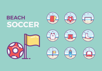 Free Beach Soccer Icons - Free vector #410933