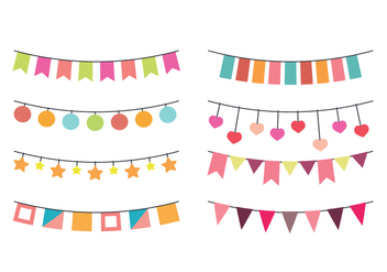 Vector Garlands for Parties - vector gratuit #410983