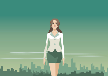 Beautiful Business Woman Vector - Free vector #411153
