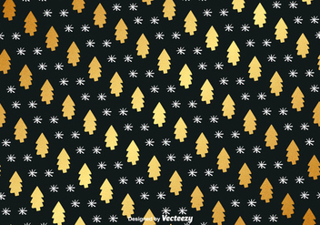 Golden Hand Drawn Christmas Vector Background - vector gratuit #411213