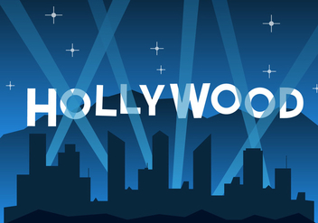 Free Hollywood Illustration - бесплатный vector #411453
