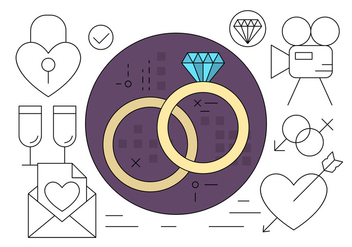Free Wedding Icons - vector #411483 gratis
