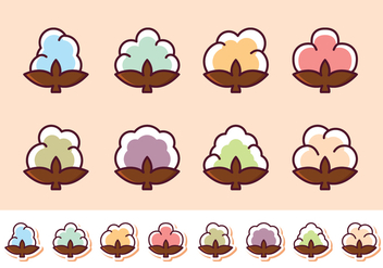 Free Cotton Flower Vector Pack - Kostenloses vector #411593