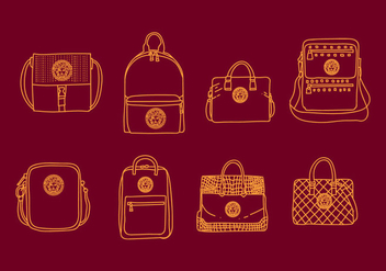 Versace Bag Illustrations - бесплатный vector #411633