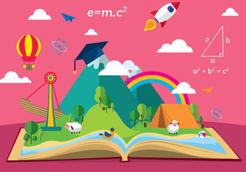 Story Telling Education Free Vector - бесплатный vector #411723