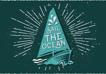 Free Vintage Sailboat Vector Illustration - Free vector #411733