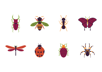 Free Insects Icon - vector #411763 gratis