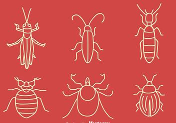 Hand Drawn Small Bug Vector Set - Free vector #411793