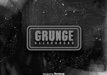 Vector Black Distressed Texture - vector gratuit #411803