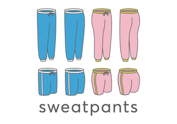 Sweatpants vectors - бесплатный vector #411833