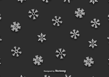 Hand-drawn Snowflakes Vector Seamless Pattern - Free vector #411943
