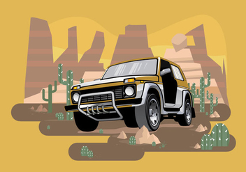 Jeep Illustration Vector - vector gratuit #411973