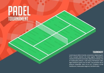 Padel Background - vector gratuit #412013