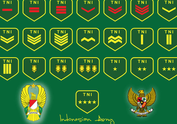 Indonesian Army Rank - бесплатный vector #412043