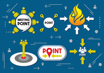 Meeting Point Vector Design - Free vector #412083