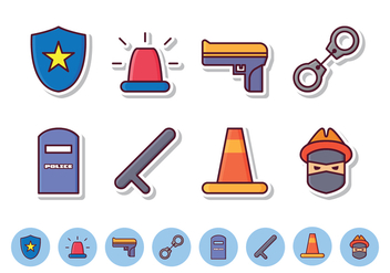 Free Police Icon Set - vector gratuit #412093