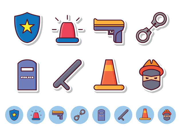 Free Police Icon Set - Free vector #412093
