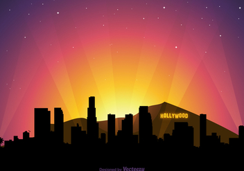 Free Vector Hollywood Skyline At Sunset - Kostenloses vector #412103
