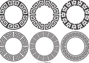 Versace Style Border Frames - Free vector #412123