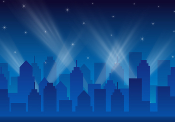 Free City Lights Landscape Vector - Kostenloses vector #412143