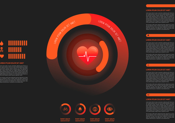 Heart Rate Infographic Template - Free vector #412163