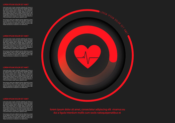 Heart Rate Infographic Template - Free vector #412173