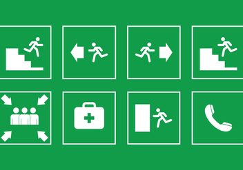 Emergency Exit Sign - Free vector #412203