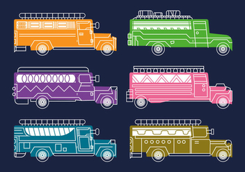 Free Jeepney Vector Illustration - бесплатный vector #412213
