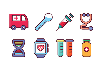 Free Medical Icon Set - vector #412223 gratis