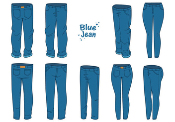 Free Blue Jean Vector - Free vector #412263