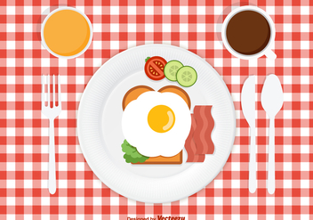 Free Vector Breakfast Design - vector #412303 gratis
