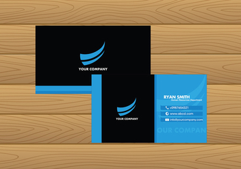 Name Card Template Blue Free Vector - Free vector #412333