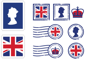 UK Royal Stamp Icons - бесплатный vector #412363