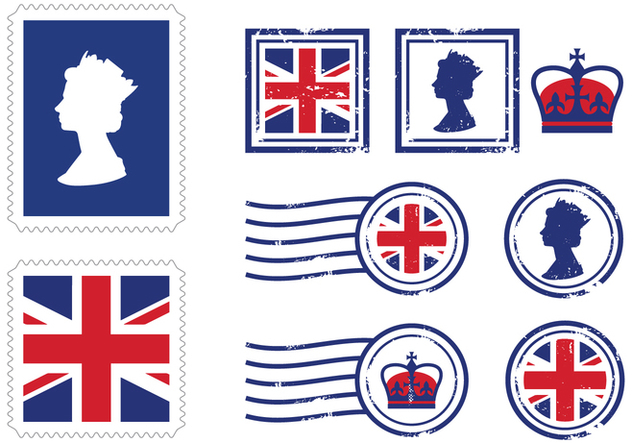 UK Royal Stamp Icons - Free vector #412363